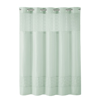 Downtown Soho Shower Curtain with Liner - Hookless