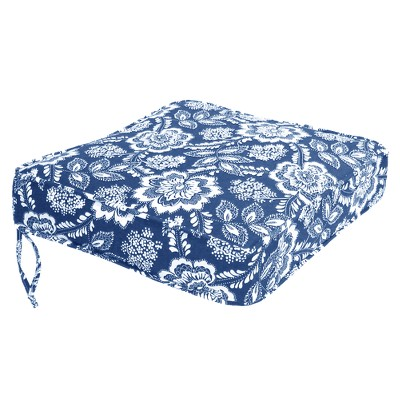 chair cushions outdoor covers for sale adelaide conversation deep seating cushion blue white floral target