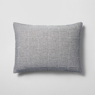 standard matelasse quilted pillow sham gray hearth hand with magnolia