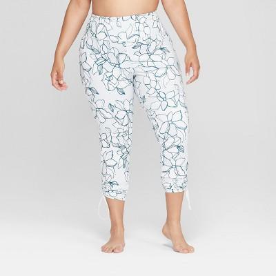 Women's Plus Size Printed Comfort 7/8 High-Waisted Leggings with Adjustable Length - JoyLab™