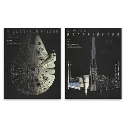 """Star Wars 20""""x16"""" 2pc Falcon Wall Art"""