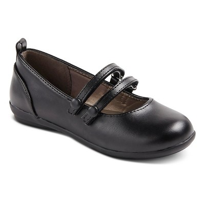 French Toast Girls' Caitlyn Ballet Flats - Black