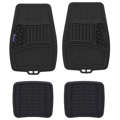"""9""""x34"""" 4pc Rubber Carpet Black - Michelin"""