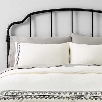 Duvet Cover Set Embroidered - Hearth & Hand™ with Magnolia