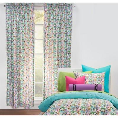 50 x84 butterfly garden single rod pocket curtain panel crayola