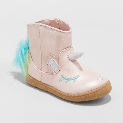 Toddler Girls' Leticia Metallic Unicorn Ankle Boots - Cat & Jack™