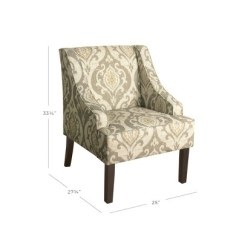 Accent Chair With Arms Yellow Rocking Finley Swoop Arm Homepop Target