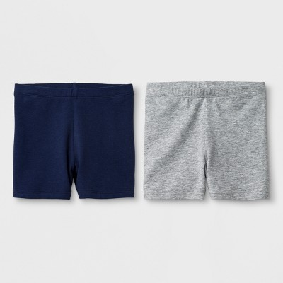 Toddler Girls' 2pk Biker Shorts - Cat & Jack™ Navy & Gray