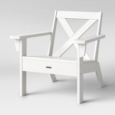 shawboro polywood patio lounge chair white threshold