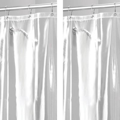 mdesign x long waterproof vinyl shower curtain liner 96 long 2 pack clear
