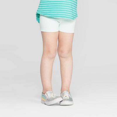 Toddler Girls' Tumble Shorts - Cat & Jack™ Light Green