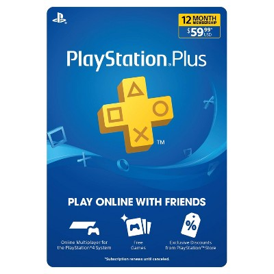 Playstation Plus 12 Month Membership Digital Target