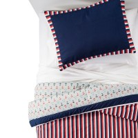 Anchors Away Comforter Set (Twin) Red - Pam Grace ...