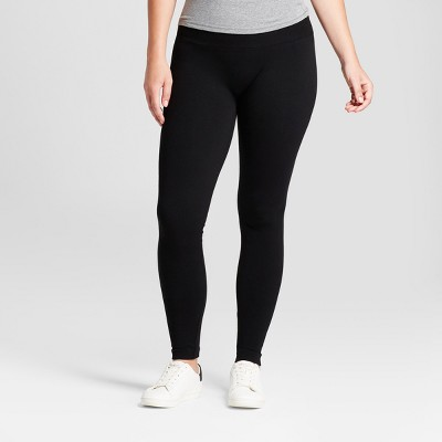 Women's High Waist Twill Seamless Leggings - A New Day™ Black