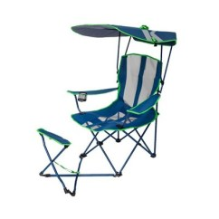 Camping Chairs With Canopy Dining Chair Covers Adelaide Kelsyus Original Ottoman Navy Blue And Lime Green