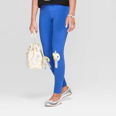 Girls' Emoji Print Leggings - Cat & Jack™ Blue