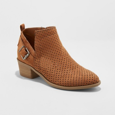 Women's Camdyn Laser Cut Buckle Bootie - Universal Thread™