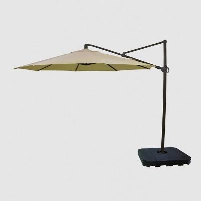 11 offset patio umbrella sunbrella spectrum black pole smith hawken