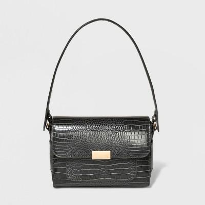 Boxy Satchel Handbag - A New Day™ Gray