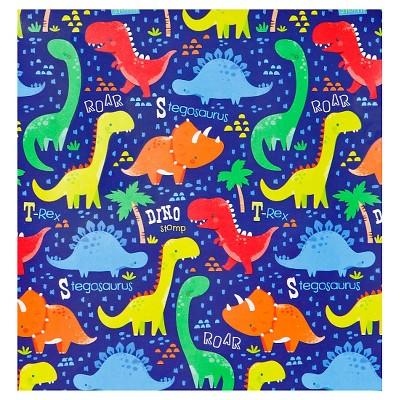 gift wrap dinosaur print