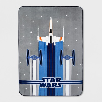 Star Wars Twin Bed Blanket Blue