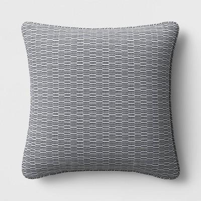 geo weave deep seat pillow back cushion duraseason fabric gray white project 62