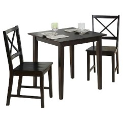 Black Cross Back Dining Chairs Comfiest Gaming Chair Set 3 Piece Tms Target