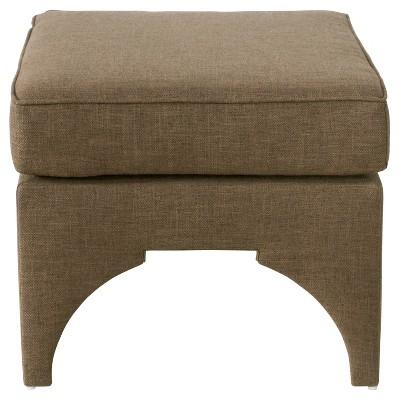 blaire pillow top ottoman zuma chocolate skyline furniture