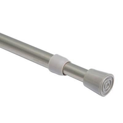 28 48 round spring tension curtain rod nickel room essentials