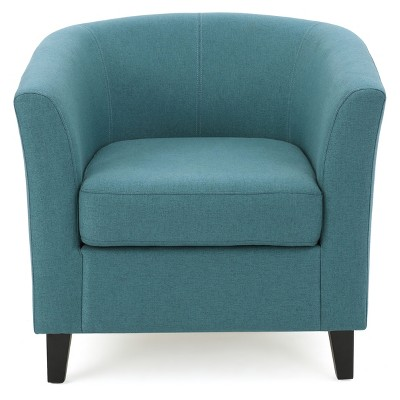teal club chair cheap polyester covers for sale preston fabric christopher knight home target