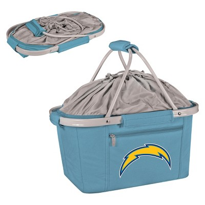 NFL Los Angeles Chargers Picnic Time Metro Basket Collapsible Tote - Blue
