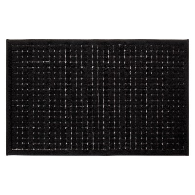 black kitchen rugs cabinets doors only grid rug room essentials target