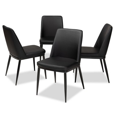 dining chairs set of 4 target template for adirondack chair darcell modern and contemporary faux leather upholstered baxton studio