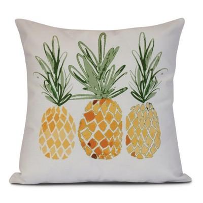 gold white pineapples print