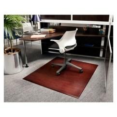 Carpet Chair Mat Target Desk Wooden Bamboo Tri Fold Plush Chairmat With No Lip Anji 1 More
