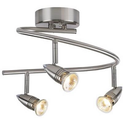 pro track 3 light spiral led ceiling light fixture