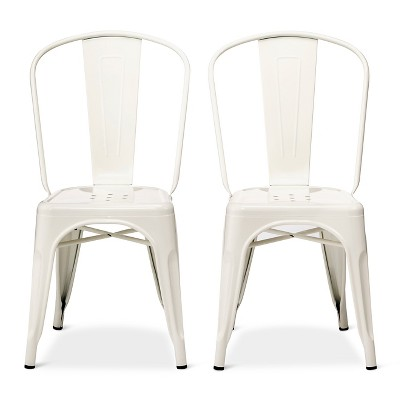 high back dining chair dutailier glider carlisle metal set of 2 white ace bayou threshold