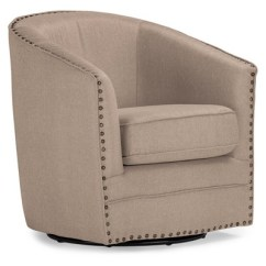 Swivel Tub Chairs Mesh Lounge Chair With Footrest Porter Modern And Contemporary Classic Retro Fabric Upholstered Baxton Studio