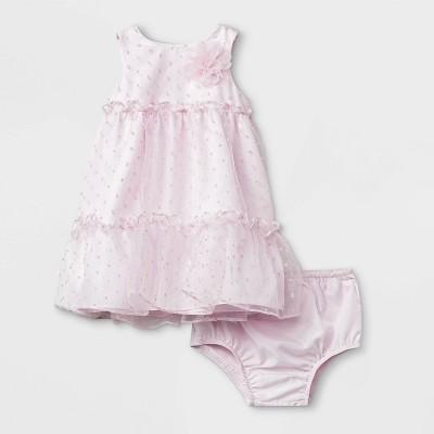 Mia & Mimi Baby Girls' Dot Dress - Pink