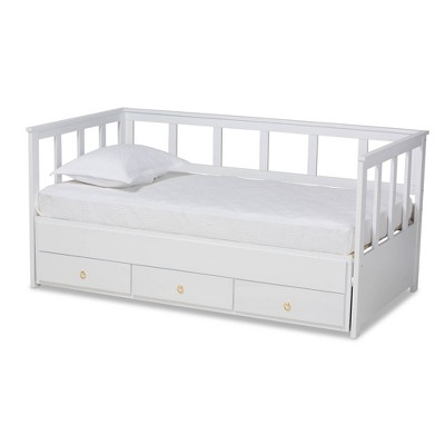 kendra expandable daybed with storage drawers white baxton studio