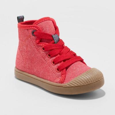 Toddler Boys' Bert Canvas Hightop Sneakers - Cat & Jack™ Red