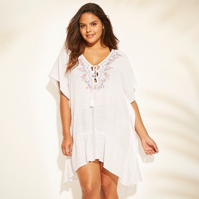 Women's Embroidered Lace-Up Cover Up - Cover 2 Cover