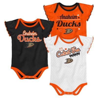 NHL Anaheim Ducks Girls' Winning Goal 3pk Body Suit Set