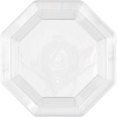 12ct Clear Dessert Plates Octagonal