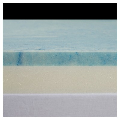 "3"" Gel Select Memory Foam Topper with Poly Silk Cover"