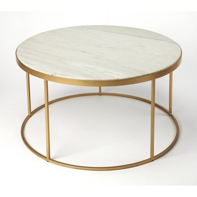 triton marble coffee table white butler specialty