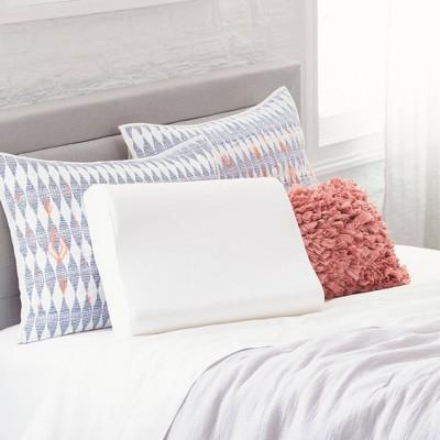 comfort revolution contour memory foam bed pillow white standard