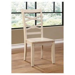 Cross Back Dining Chairs White Chair Covers Canberra Sun Pine Emery Transitional Side Set Of 2 Target