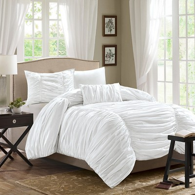 white pacifica comforter set king 4pc