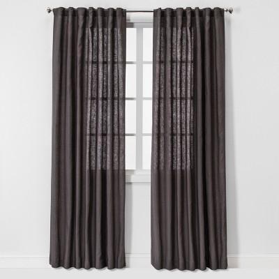 Linen Light Filtering Curtain Panels - Threshold™